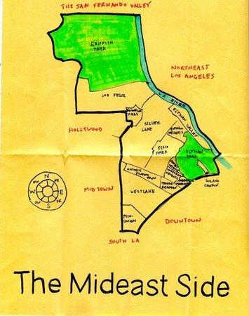 Silverlake Los Angeles Map.Silver Lake Map Maker Draws Attention The Eastsider La