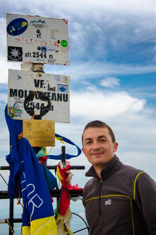 Caba Dan pe Varful Moldoveanu
