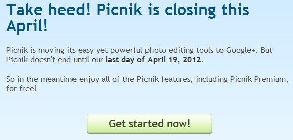 Google anuncia que Picnik se cerrará el 19 de abril