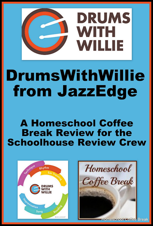 Playing DrumsWithWillie - A Homeschool Coffee Break Review for the Schoolhouse Review Crew  @ kympossibleblog.blogspot.com