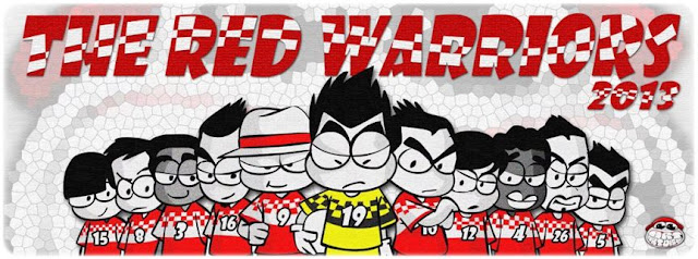 say hai for The Red Warriors team 2013