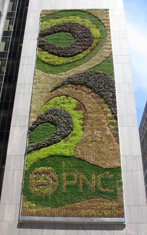 Mural green wall by kari katzander 249 fifth ave downtown for Mural go green