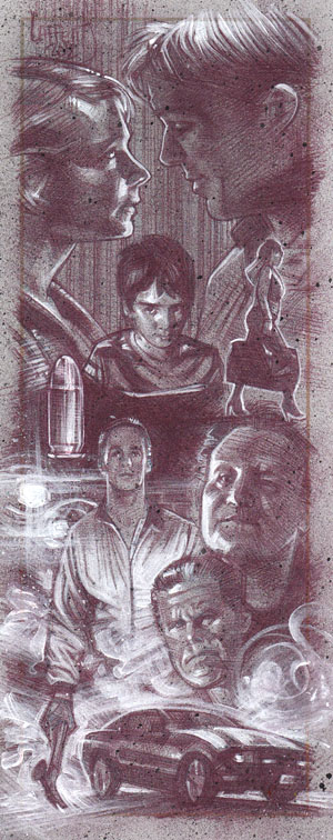 Drive (Pencil study) ACEO Sketch Card by Jeff Lafferty