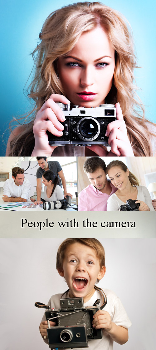 Stock Photo: People with the camera