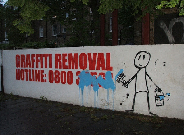 Funny Sign - Graffiti Removal Hotline! Image
