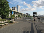The path on the West Side of Upper Manhattan