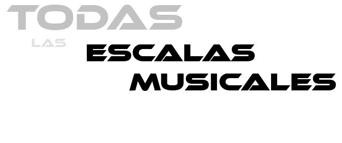 Nuevas escalas musicales