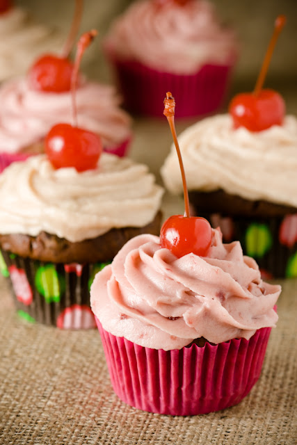 Chocolate Cherry Cupcakes, Two Ways | Cupcake Project