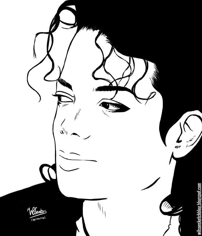 The King of Pop: Michael Jackson, using Krita 2.5 Beta.