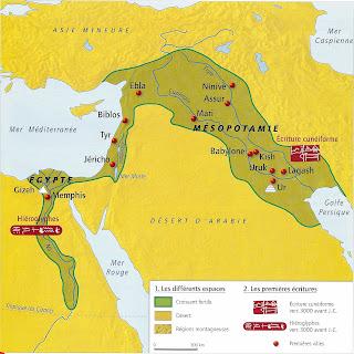 carte de l orient ancien Le début de l'Histoire | L'Orient Ancien au IIIe millénaire avant