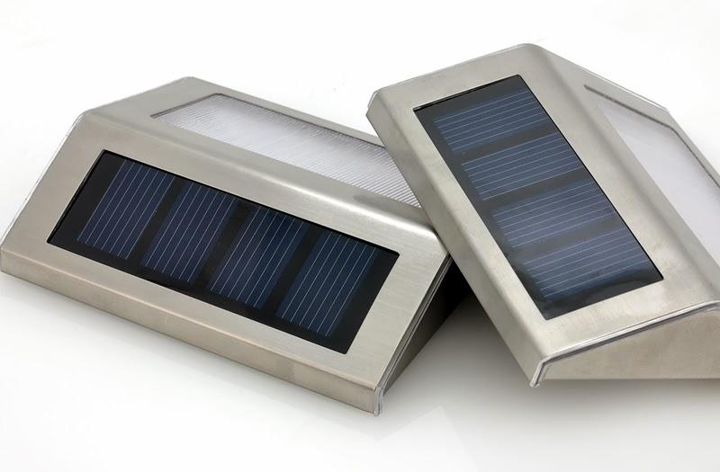 ... Lampade Solari da Esterno 2 LEDs Impermeabili Batteria Ricaricabile