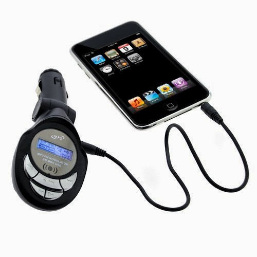 GTMax 3.5mm LED FM Transmitter with SD Slot for SanDisk Sansa Clip