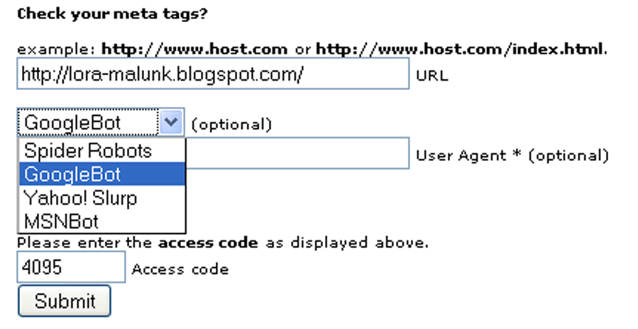 Meta Tag Analyzer : Tes meta teg dengan tag analyzer lora malunk