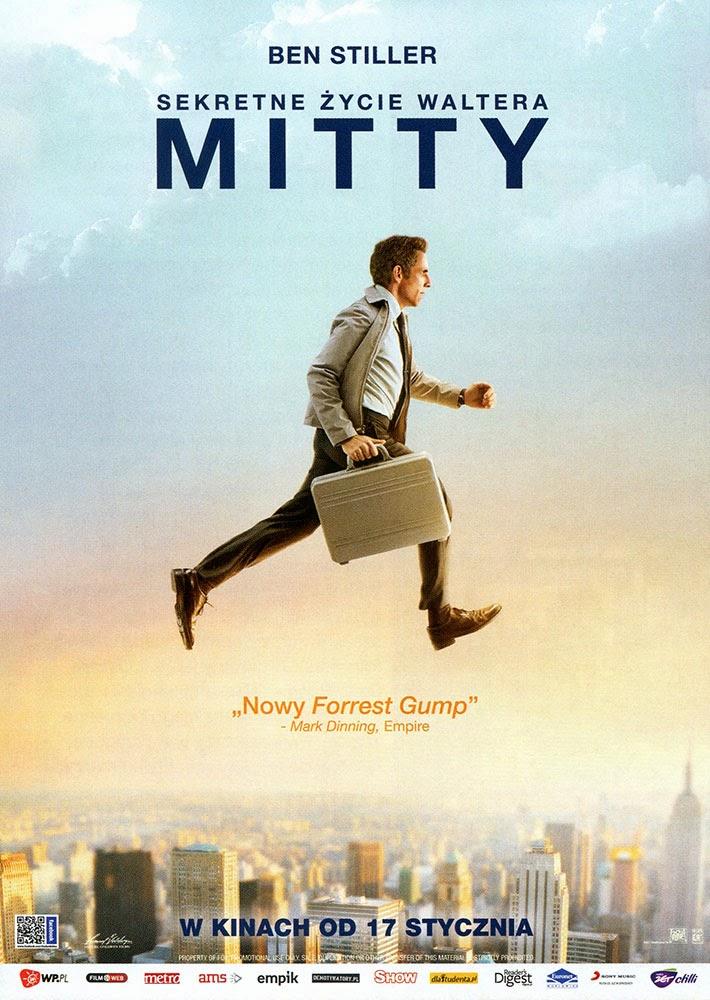 Ulotka filmu 'Sekretne Życie Waltera Mitty (przód)'