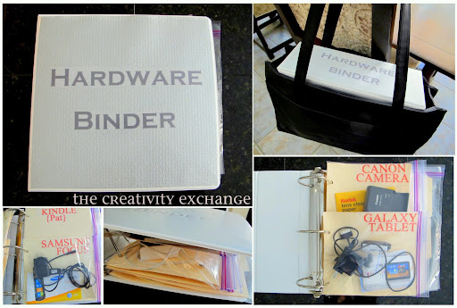 Hardware Binder: Organizing Chargers, Cables and Instructions..