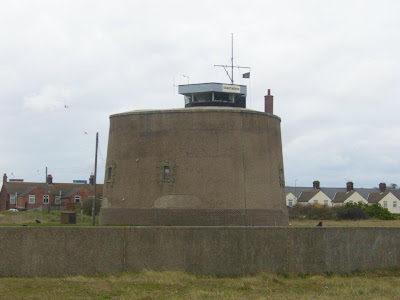 Martello Tower on Languard Common, presently used as a coastguard station