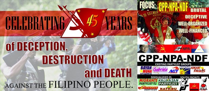 45 Years of Lies and Deceptions of the CPP-NPA-NDF