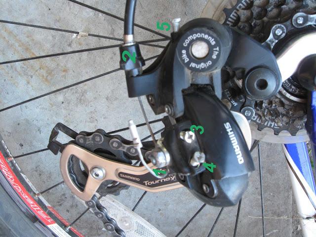 задний переключатель скоростного велосипеда