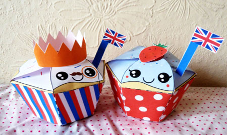 Diamond Jubilee Papercraft Cupcake