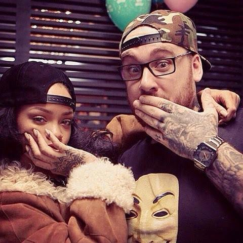 Rihanna in Fendi Shearling Coat