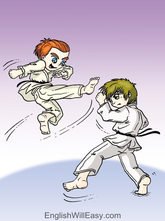 Picture Card For Kids- Verbs- fight