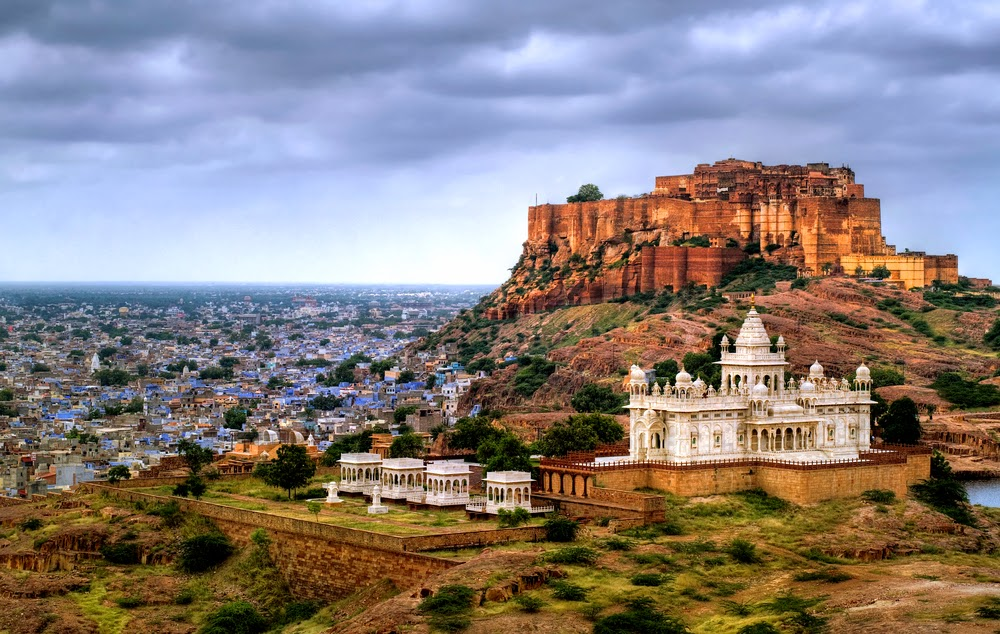 You can see the whole city of Jodhpur from Mehrangarh Fort.