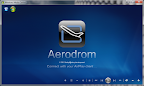 AerodromMCE in Windows Media Center waiting for Airplay connection from iPhone, iPod or iPad.