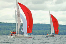 J/105s sailing Ugotta Regatta off Harbor Springs, MI