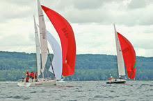 J/105s sailing Ugotta Regatta off Harbor Springs, MI