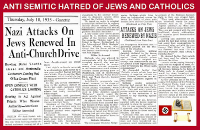 On a day like today: Nazi hatred for Jews and Catholics