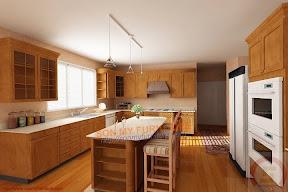 Tủ bếp gỗ tự nhiên 0115