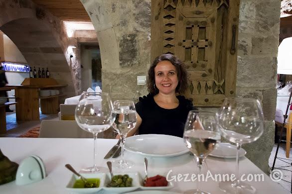 Kapadokya'da Uçhisar'daki Seki Restoran'ın ortamı