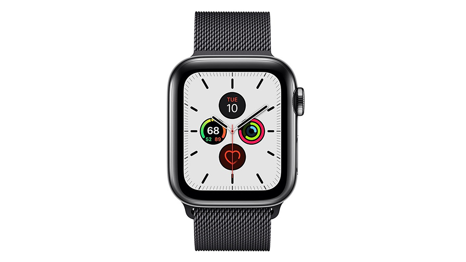 màn hình Apple Watch Series 5 Cellular 40mm viền thép dây Milanese