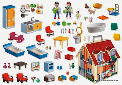 Contenido real de Playmobil 5167 Casa de Muñecas Maletín