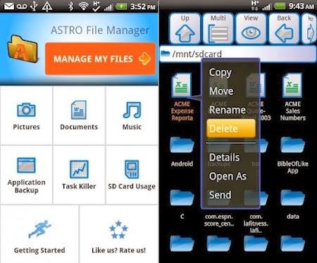 Administra los archivos de tu Android con Astro