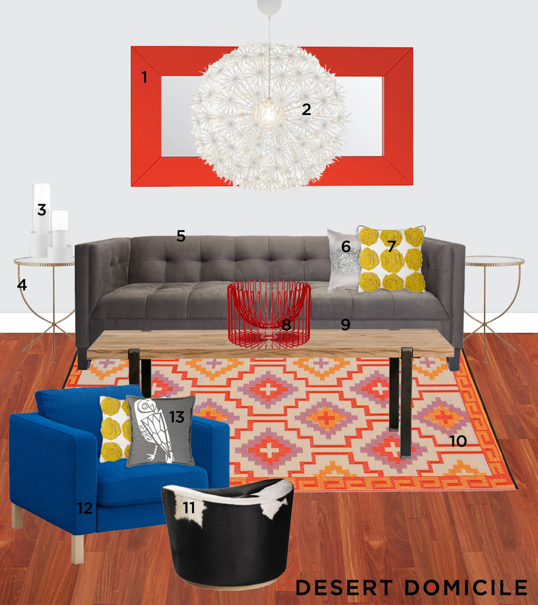 Moody Monday: Modern Moroccan Living Room