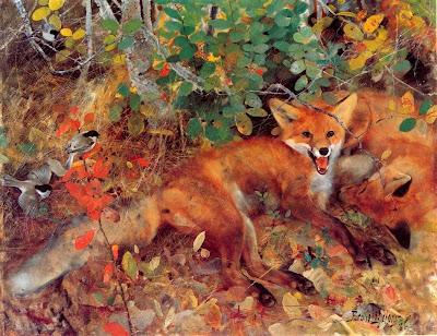 Bruno Liljefors - Foxes