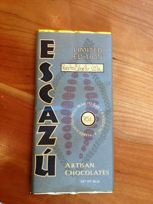 Escazu bar made with Venezuelan dark chocolate.