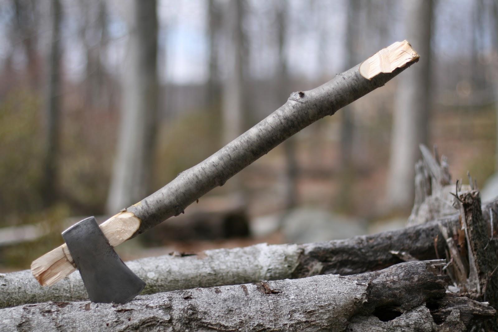 carved axe handle. wood trekker carved axe handle