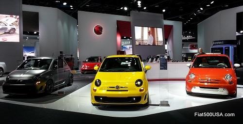 2013 Fiat 500 lineup