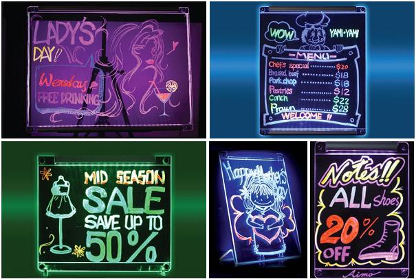 LED七彩極光手寫廣告面板,讓您吸引眾人目光成為新焦點