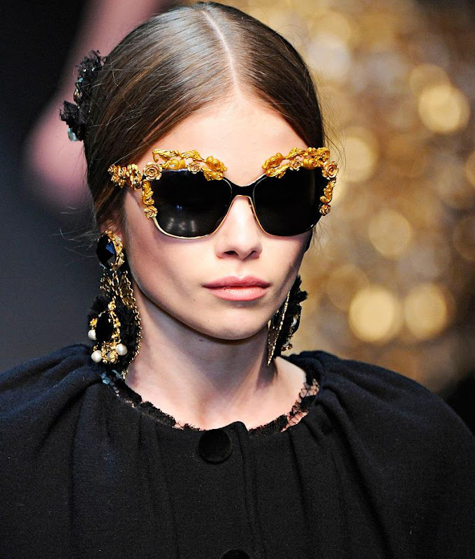 Fashion Eyewear Dolce Amp Gabbana Fall 2012 Milan