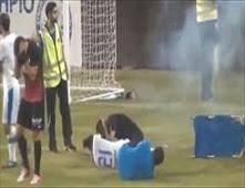 صاروخ كاد يقتل اللاعبين في قبرص