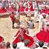 कनाना गेर गेर दलों ने गेर नृत्य की मनमोहक प्रस्तुतियों से समां बाधा