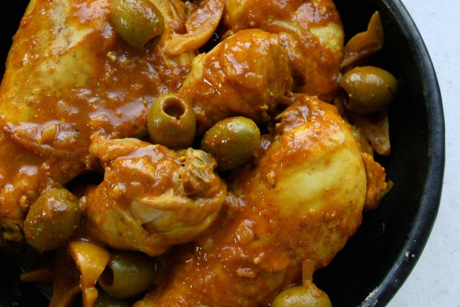 Moroccan Chicken With Lemon And Olives Recipe — Dishmaps