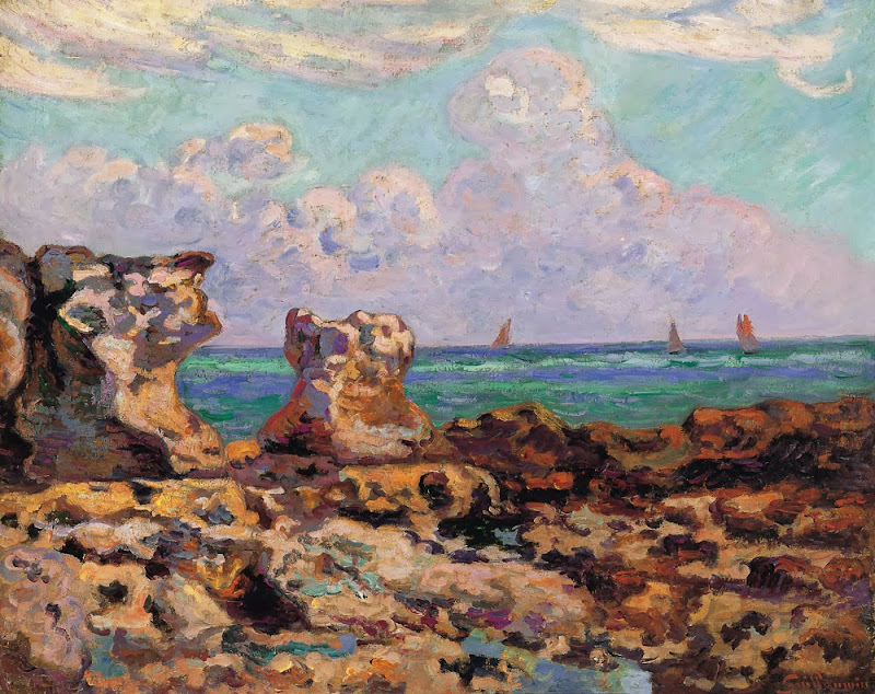 Armand Guillaumin - Saint-Palais-la-Pierrière. Low Tide, 1893