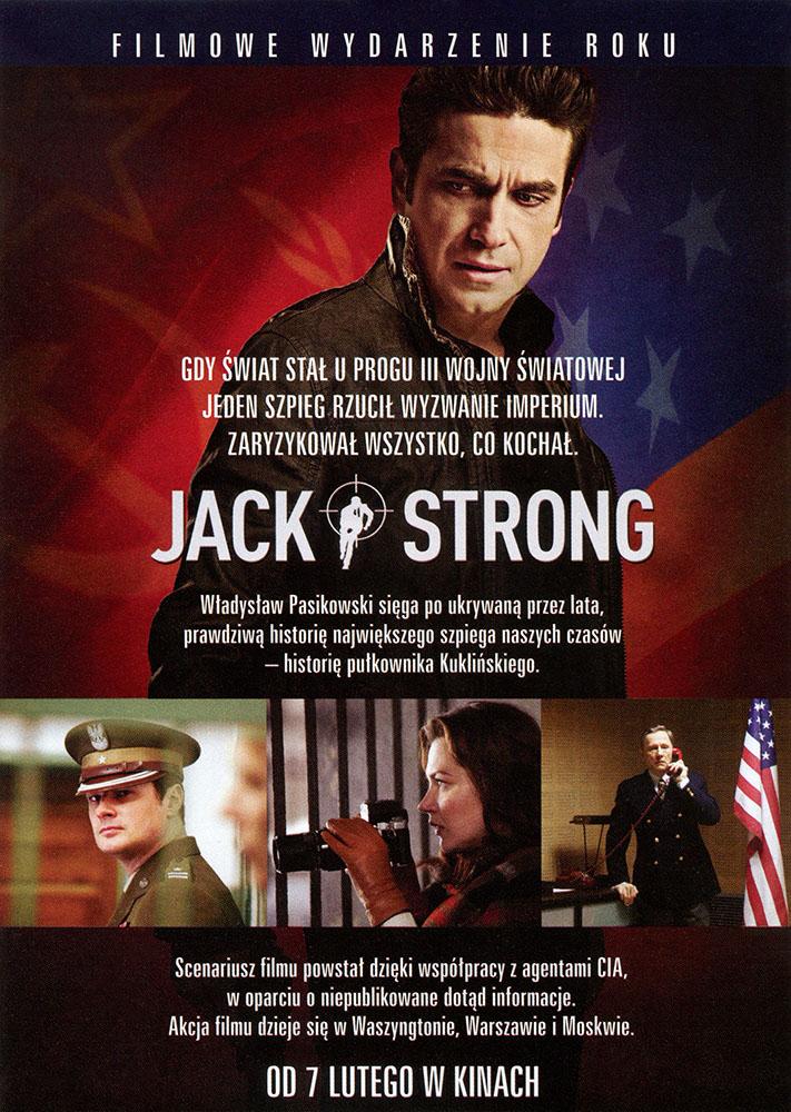 Ulotka filmu 'Jack Strong (tył)'