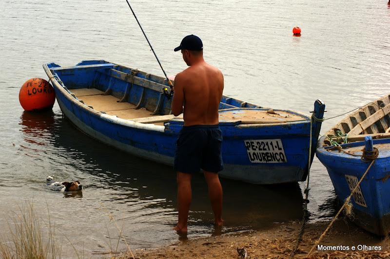 Pescador na Lagoa de Óbidos