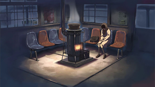 I Find This To Be Probably The Happiest Moment In Five Centimeters Per Second Akari Has Been Waiting For Takaki At The Train Station The