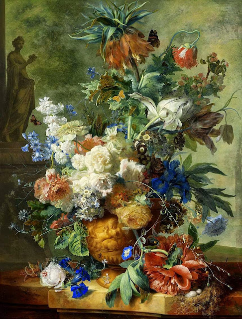 Jan van Huysum - Still Life with Flowers